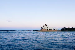 Sydney Opera House at sunset. Sep,15,2016 NSW Australia. The Sydney Opera House is a famous arts center. Over 10 millions tourist visit Sydney a year Royalty Free Stock Image