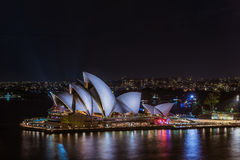 Sydney Opera House Sydney Australia at night . Stock Photography