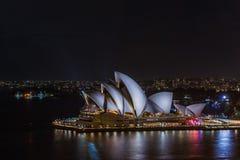 Sydney Opera House Sydney Australia at night . Stock Photo