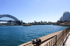 Sydney Opera House and Sydney Harbour Bridge Stock Image