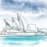 Sydney Opera House Sydney, New South Wales, Australia royalty illustrazione gratis
