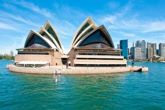 Sydney Opera House, architectural attraction, Australia Royalty Free Stock Images