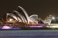 Sydney Opera House, Sydney vívido 2014 Imagem de Stock Royalty Free