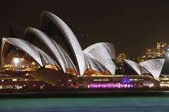 Sydney Opera House, Sydney vívido 2014 Fotografia de Stock Royalty Free