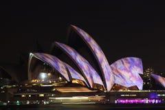 Sydney Opera House, Sydney vívido 2014 Imagens de Stock