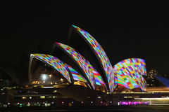Sydney Opera House, Sydney vívido 2014 Imagem de Stock
