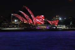 Sydney Opera House, Sydney vívido 2014 Foto de Stock