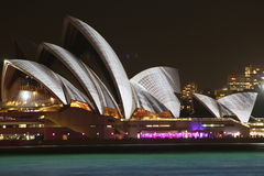 Sydney Opera House, Sydney viva 2014 fotografia stock libera da diritti