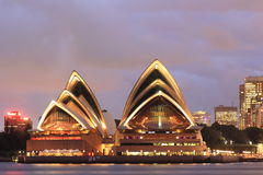 Sydney Opera House at twilight Stock Photography