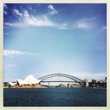 Sydney Opera House und Hafen-Brücke Stockbild