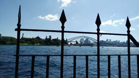Sydney Opera House und Sydney Harbour Bridge Stockbilder