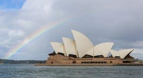Sydney Opera House under a rainbow Royalty Free Stock Photos
