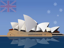 Sydney Opera House. Vector illustration of the Sydney Opera House in Australia Royalty Free Stock Photography