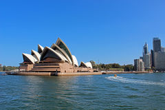 Sydney Opera House. Opera House in Sydney, view from the bridge Royalty Free Stock Images