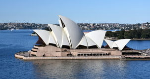 Sydney Opera House view from Harbour Bridge. Royalty Free Stock Image