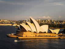 Sydney opera house view on Sydney harbour bridge Royalty Free Stock Photography