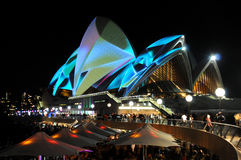 Sydney Opera House Vivid. Lights on the Sydney Opera House during Vivid Festival Royalty Free Stock Images