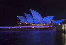 Sydney opera house during vivid festival Stock Image