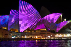 Sydney Opera House at the Vivid festival 2013 June 9th Stock Photography