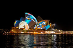 Sydney Opera House at the Vivid festival 2013 June 9th Royalty Free Stock Image