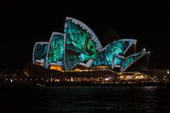 Sydney Opera House during Vivid festival 2014 Stock Image