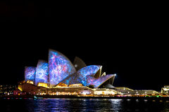 Sydney Opera House during Vivid Festival Stock Photo