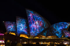 Sydney Opera house on Vivid light Festival 2014 edition Stock Photography