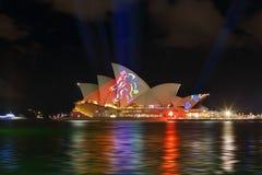 Sydney Opera House during Vivid Sydney Annual Festival Stock Photography