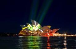 Sydney Opera House during Vivid Sydney Royalty Free Stock Photography