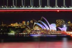 Sydney Opera House during Vivid Sydney Royalty Free Stock Image