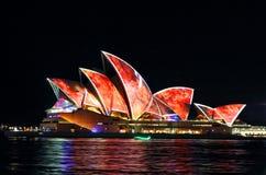 Sydney Opera House Vivid Sydney 2016 Royalty Free Stock Image