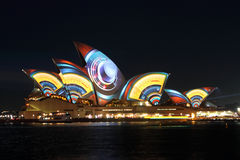 Sydney Opera House on Vivid Sydney Royalty Free Stock Photography