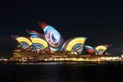 Sydney Opera House on Vivid Sydney Royalty Free Stock Photography