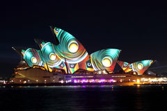 Sydney Opera House on Vivid Sydney Stock Images
