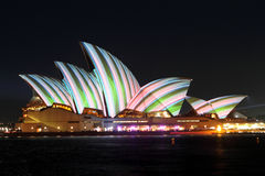 Sydney Opera House on Vivid Sydney Royalty Free Stock Photo