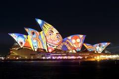 Sydney Opera House on Vivid Sydney Royalty Free Stock Photo