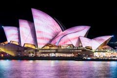 Sydney Opera House during Vivid Sydney Festival. Royalty Free Stock Images