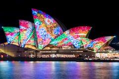 Sydney Opera House during Vivid Sydney Festival. Stock Image