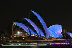 Sydney Opera House, Vivid Sydney 2014 Stock Photos