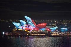The Sydney Opera House in Vivid Sydney Royalty Free Stock Photography