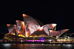 Sydney Opera House in Vivid Syndey 2014 Royalty Free Stock Photography