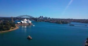 Sydney Opera House-Vogelperspektive vom Hubschrauber stock video footage