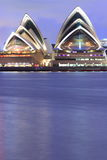 Sydney Opera House waterfront at dusk Royalty Free Stock Images