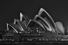 Sydney Opera Night Immagine Stock