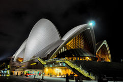 Sydney opera, NSW, Australia: Nocy scena Obraz Stock