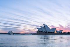 Sydney opera przy wschodem słońca w Sydney Australia Zdjęcia Stock