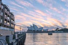 Sydney opera przy wschodem słońca w Sydney Australia Fotografia Stock