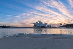Sydney opera przy wschodem słońca w Sydney Australia Obrazy Stock