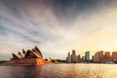 Sydney opera Quay i kurenda obraz royalty free