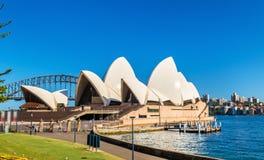 Sydney opera, UNESCO światowego dziedzictwa miejsce w Australia Zdjęcia Stock